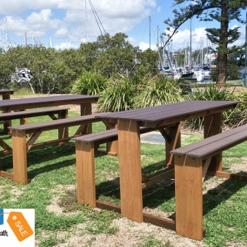 Outdoor bar picnic tables - 1m high