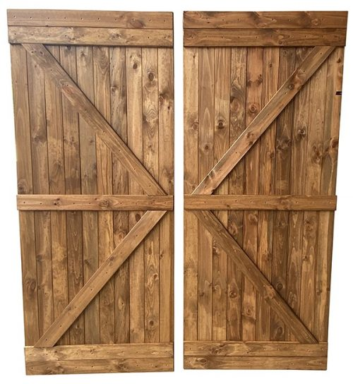 Rustic Timber Barn Doors