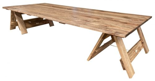 Low Boho Trestle Table
