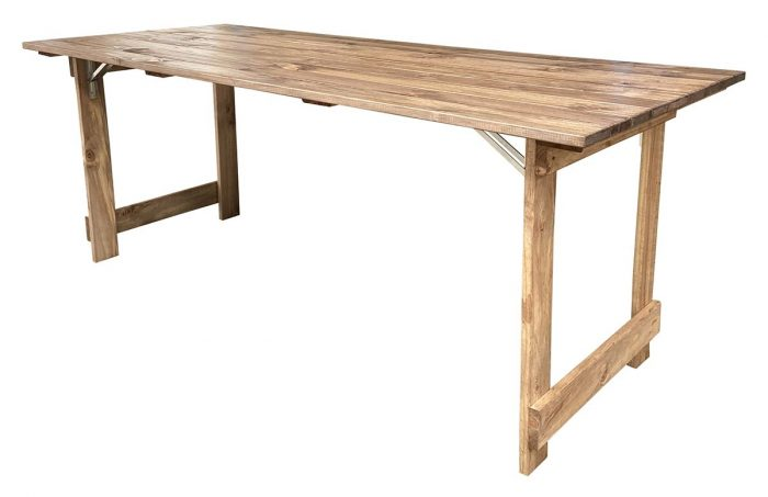 Rustic Folding Timber Table